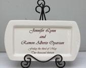 Custom Wedding Platter Anniversary Platter