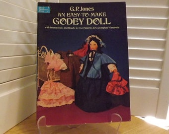 Godey Doll Pattern Vintage, 1850s Doll and Costume Patterns, Ready to Use Patterns, Authentic Historic Doll size Replicas Women's Clothing