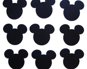 50 Black Mickey Mouse punch die cut cutout scrapbooking embellishments - No477