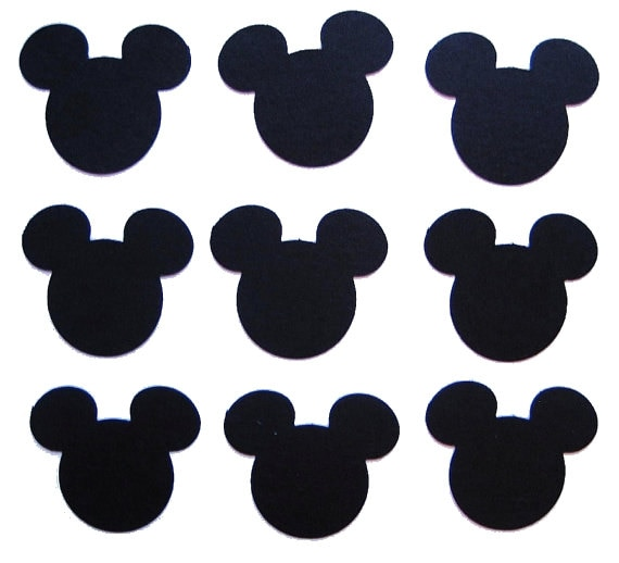 Mickey mouse hand cut out