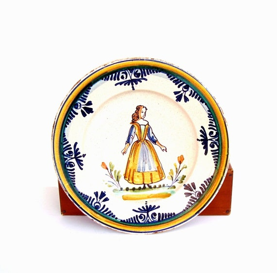 Items similar to vintage quimper style bowl french faience for Faience cuisine style retro