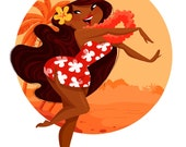 Hawaiian Girl 8X10