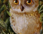 Little Woodland Owl ACEO Giclee Print