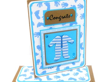 Congrats Boy Card with Matching Embellished Envelope
