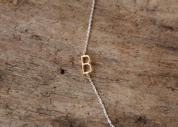 sideways initial necklace, Monogram Name Necklace, Monogram & Name Necklaces, initial necklace, personalized necklace,custom letter necklace