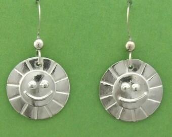 Sterling Silver Sunshine Smile earrings