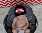 Baby MOM tattoo hat Valentines Day Sizes nb - 36mos (can say DAD too - choose hat color)