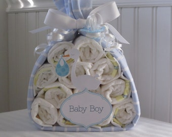 Baby Stork Bundle-Boy Stork Bundle-Boy Baby Gift