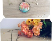 Botanical vintage necklace. Leaves Photography. Stars Jewelry. Flowers. Natural Spring Touch
