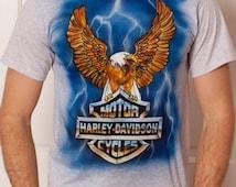 HARLEY DAVIDSON Motor Cycles - Airbrushed Tshirt - M