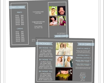 Brochure template etsy for 8 5x11 tri fold brochure template