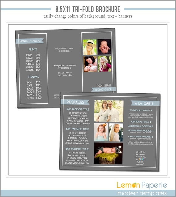 8 5x11 tri fold brochure template - items similar to tri fold marketing brochure