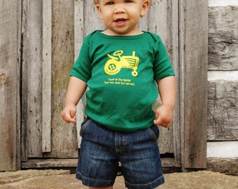 Ripe For Harvest - Tractor, Christian Shirt, Children's Clothing, Kids Clothing, Toddler Shirt, Baby Shirt, Christian Shirt, Green Shirt
