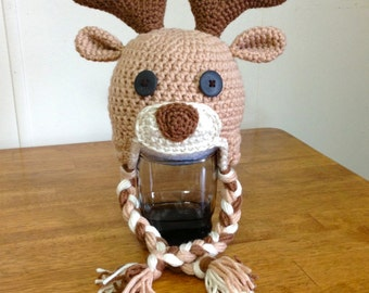 Popular items for crochet deer hat on Etsy