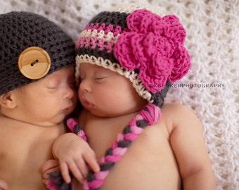 baby girl hat, newborn baby hat, newborn girls hat, baby hat, crochet baby hat