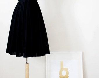 Vintage 1950s Party Dress - Grace Kelly Dress - Full Skirt Dress - Size Small