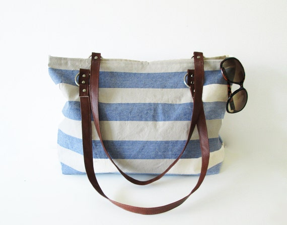 Nautical Canvas Beach Bag — Crafthubs