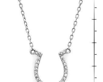 Small Diamond Horseshoe Necklace