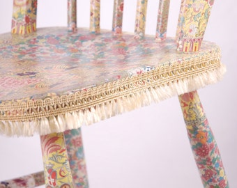 "OOAK Wooden decoupage chair ""Olivia"""
