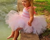 Valentine Pink Tutu Dress, Toddler Tutu Dress,  First Birthday Outfit