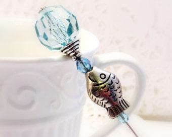 HAT PIN FISH Womens Accessories fish hat pin Victorian Hat Pin lapel Pisces scarf shawl lapel brooch jewelry