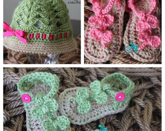 Seaside Sandals & Sun Hat  0-12 months