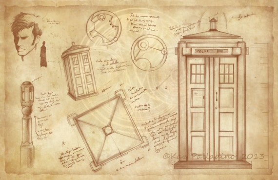 The Tardis The Doctor Doctor Who Poster By Awkwardaffections