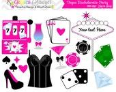 INSTANT DOWNLOAD,  Bachelorette clip art - vegas clip art - commercial use -  - personal use - scrapbook - invitation - party