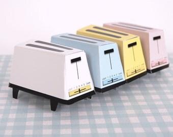 60s TOASTER Retro Wedding Toaster Gift Box Templates, 70s Toaster,  Printable DIY Wedding Favors, Pastels, White, Blue, Pink, Yellow
