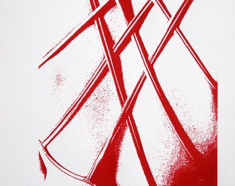 Classical Ballet Dancer, Leotard Detail - limited edition screenprint