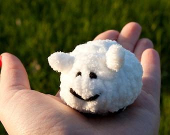 Small Sheep stuffed animal, soft sculpture