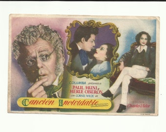 Free shipping-Vintage film flyer - A Song to Remember - Fréderic Chopin