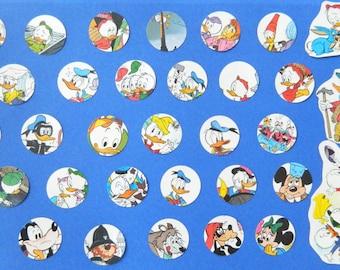 "Donald Duck Paper Punches - 30 Pieces - 2"" Circles  -  Ephemera Cutouts For Art, Scrapbooking"