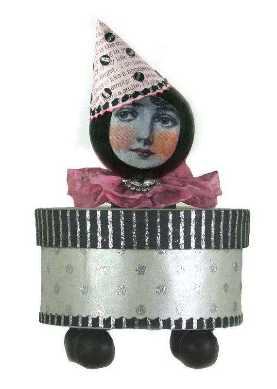 Jewelry Box , Trinket Box , Jewerly Box , Decorative Box , Lady in Pink