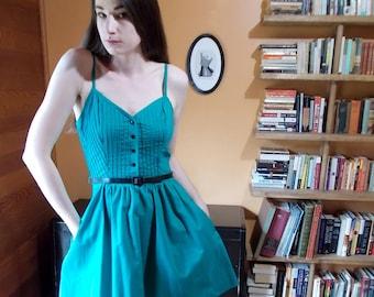 80's Pintucked Mini Dress