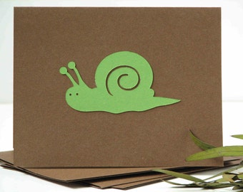 snail stationery set of 6, garden greeting cards, simple style, garden theme
