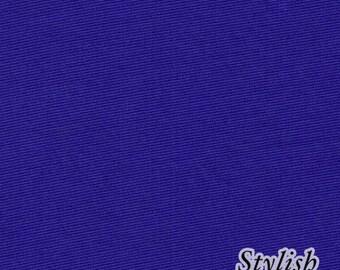 Royal BLUE Ponte Roma Fabric Royal BLUE solid knit fabric Royal BLUE Ponte di Roma Fabric by the yard - 1 Yard Style 410