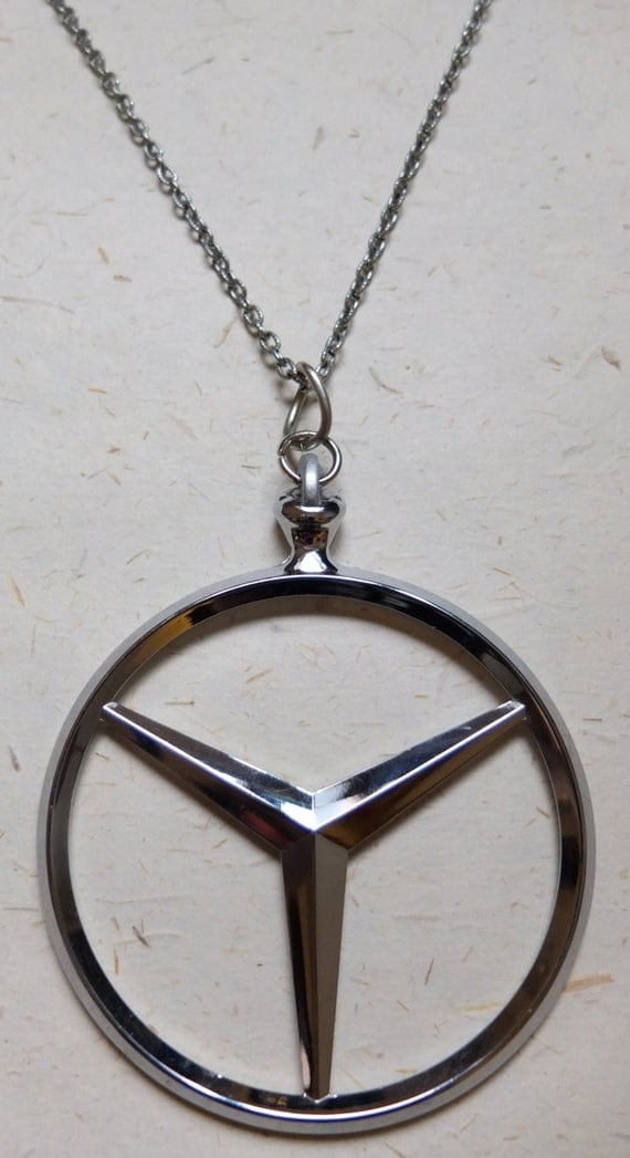 Upcycled recycled repurposed mercedes benz hood ornament for Mercedes benz pendant