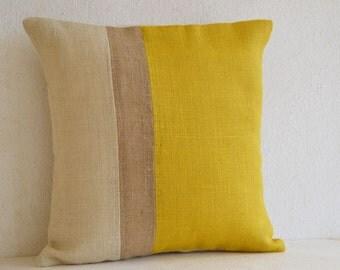 Yellow Pillow, Throw Pillows Color Block, Outdoor Pillows, Decorative Cushion Cover, Spring Throw Pillow Gift Pillow All Sizes, Pillow Cover