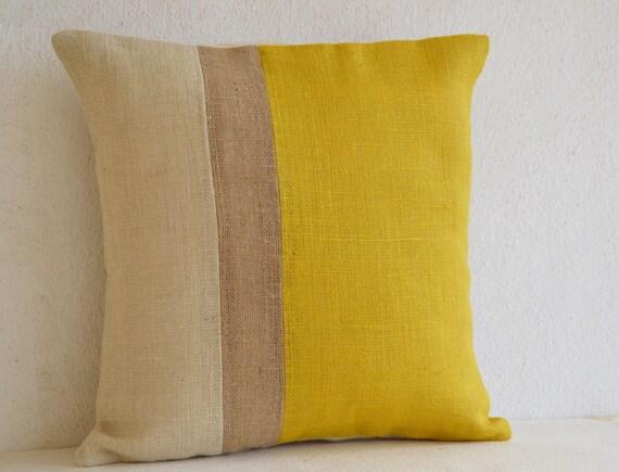 Outdoor Throw Pillows Yellow : Yellow Pillow Throw Pillows Color Block Yellow Decorative