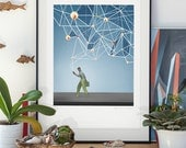 Big Brother. lllustration art giclée print signed by the artist. A2 poster.