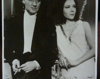 THE AVENGERS/////Vintage Mr Steed and Mrs Peel Black and White Photo