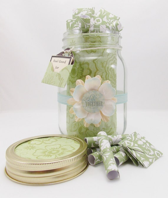 jar of quotes inspiring and sentimental gift by feelgoodjar