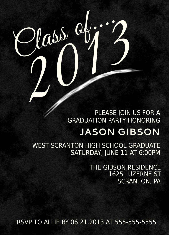 printable graduation party invitation announcement various. Black Bedroom Furniture Sets. Home Design Ideas