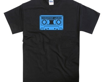 Commodore Gamer Cassette Tape C64 Vic 20 Tribute Tshirt
