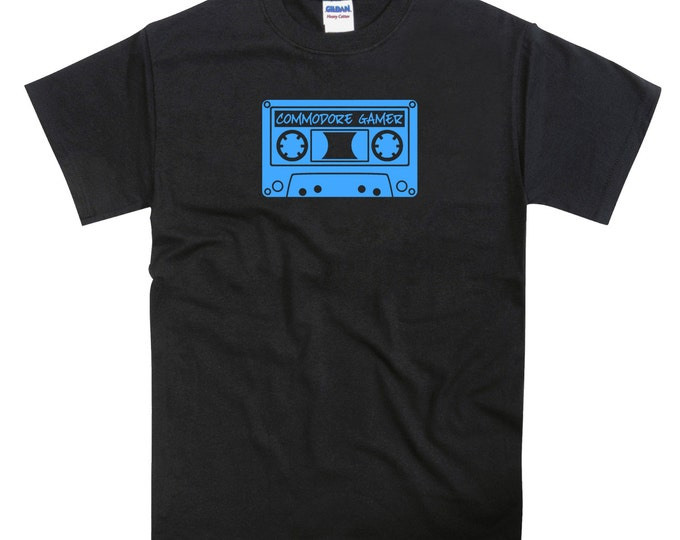 Commodore Gamer Cassette Tape C64 Vic 20 Tribute Tshirt