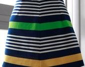 Size M / AU 12 Vintage Mini Striped Skirt