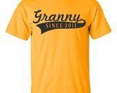 Mothers Day Gift Womens Tee shirt Anniversary T shirt Granny Since 2013 (ANY YEAR) gifts S-3XL