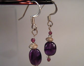 CLEARANCE - Amethyst Earrings