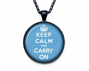 Keep calm and carry on pendant Keep calm and carry on necklace